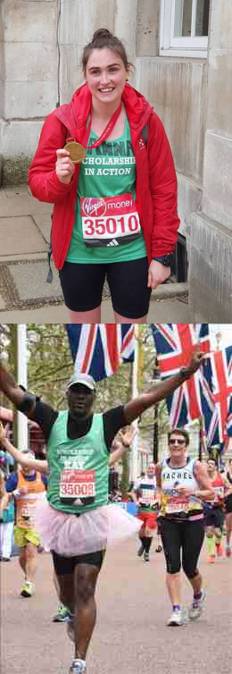 Two members of our brilliant 2016 Marathon team: Anna-Marie Mc Farlane (top) and Canon Collins alumnus, Dr. Kay Kwalombota (bottom)
